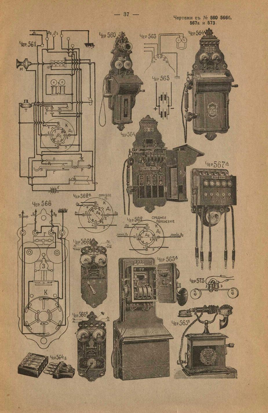 Телефонные аппараты 1917г.