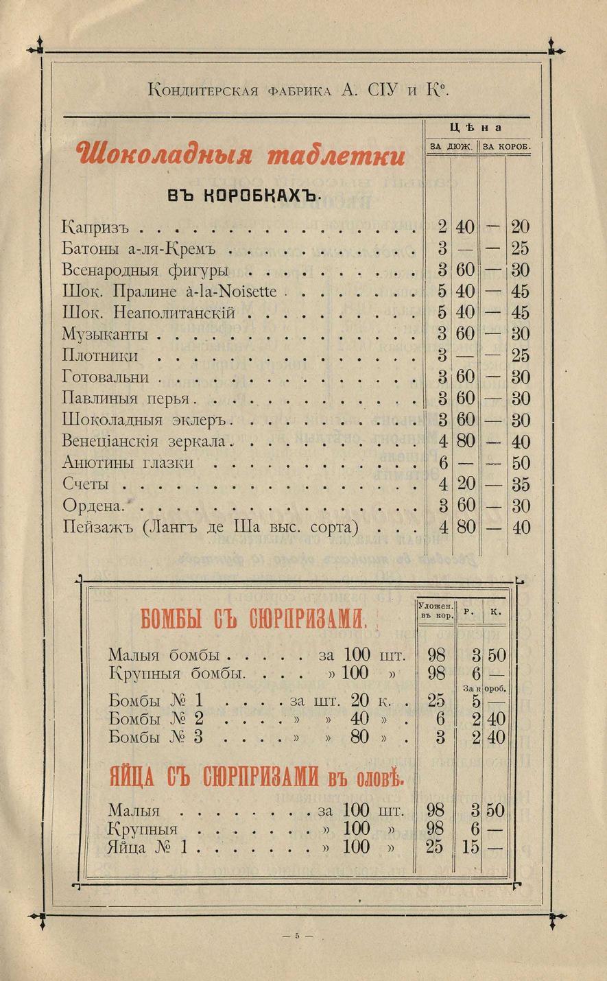Прайс ТД СИУ и Ко РГБ